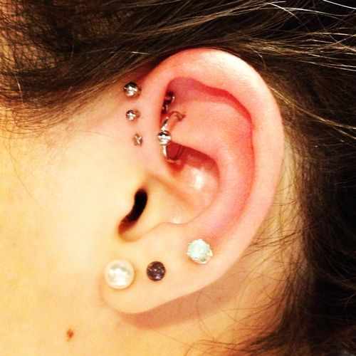 forward helix piercing rook rook piercing ring  Ears Fashion  Piercing    Cute Rook Piercing