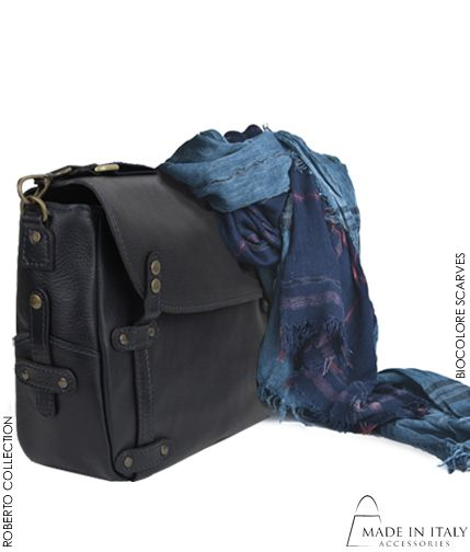 Roberto Collection | Italian Leather Bags for Men | Scarves | Made in Italy Accessories  https://madeinitalyaccessories.com/bags-for-men https://madeinitalyaccessories.com/bicolore-blue-navy-scarf