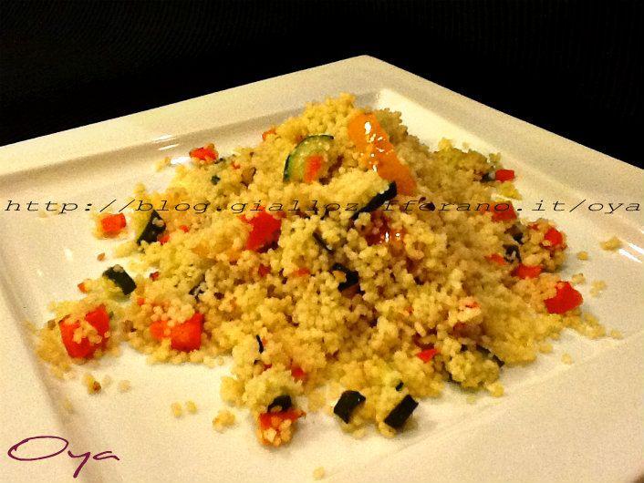 Cous cous con verdure, ricetta semplice.  http://blog.giallozafferano.it/oya/cous-cous-con-verdure-ricetta-semplice/