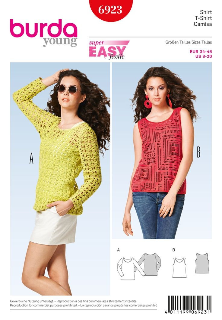 Simplicity Creative Group - Burda Style Tops, Shirts, Blouses - 6923