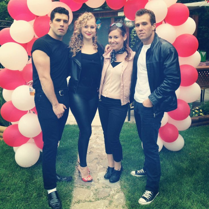 Greasers. Sandy, Danny and a Pink Lady costume for my 22nd Grease theme birthday party