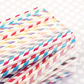 Paper Straws: Party Pack Mix