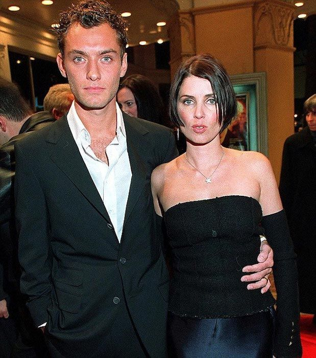 Jude Law and his ex-wife Sadie Frost...