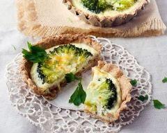 Mini quiche au brocoli et crème de parmesan