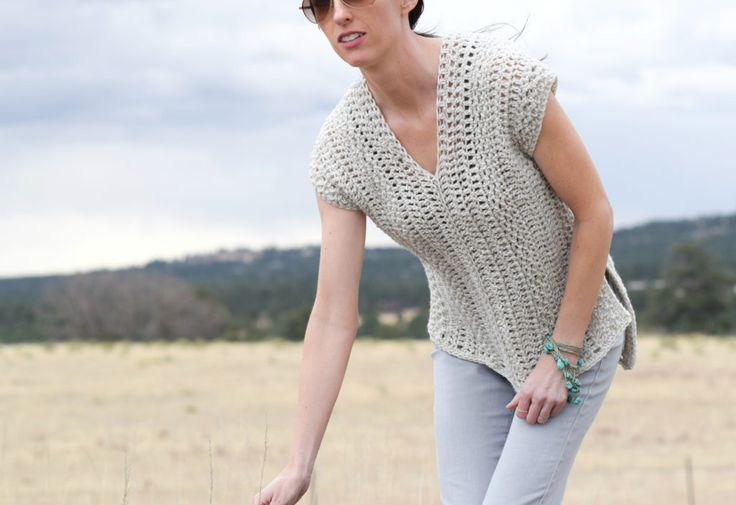 "C. The ""Topcho"" Easy Crochet Shirt Pattern – Mama In A Stitch. Must increase panels width for extended sizes."