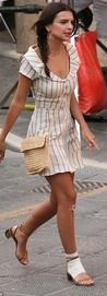 Emily Ratajkowski sports bandage on foot for Welcome Home | Daily Mail Online