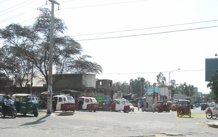 La entrada principal al Mercado Toledo, años atrás esta zona había una desmotadora de algodón. Tomada el 27/04/2012 [Coordenadas -14.060447807238953,-75.73493957519531].