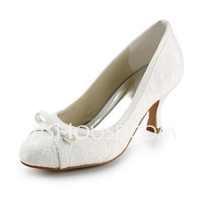 Brudesko - $51.99 - blonder øvre høye hæler Peep-tær med bowknot bryllup brude sko (047005740) http://jjshouse.com/no/Blonder-%C3%B8vre-H%C3%B8ye-H%C3%A6ler-Peep-t%C3%A6r-Med-Bowknot-Bryllup-Brude-Sko-047005740-g5740