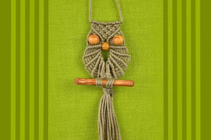 Macrame owl you tube tutorial. No narrative, just watch how it is done.