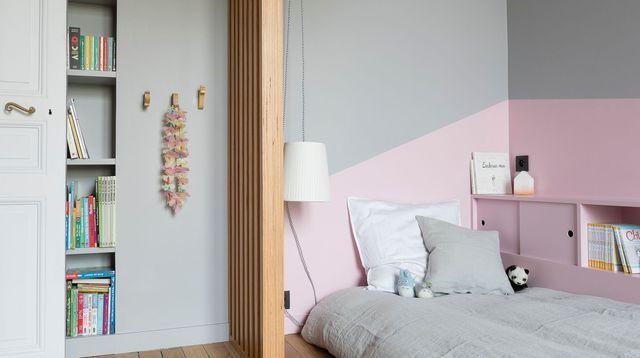 Peinture chambre fille gar on ado b b quelle couleur - Peindre une chambre mansardee en 2 couleurs ...