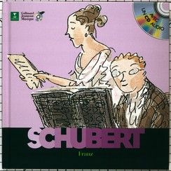 Franz Schubert - Découverte des Musiciens - Livres pour enfants - À Vienne, où vit Franz Schubert, et tout particulièrement dans sa famille, la musique est partout présente. Très vite on se rend compte de ses dons musicaux et le petit Franz éprouve un immense plaisir à écrire de la musique. Mais la vie n'est pas toujours facile et, très jeune, Franz exprime sa tristesse dans ses œuvres.