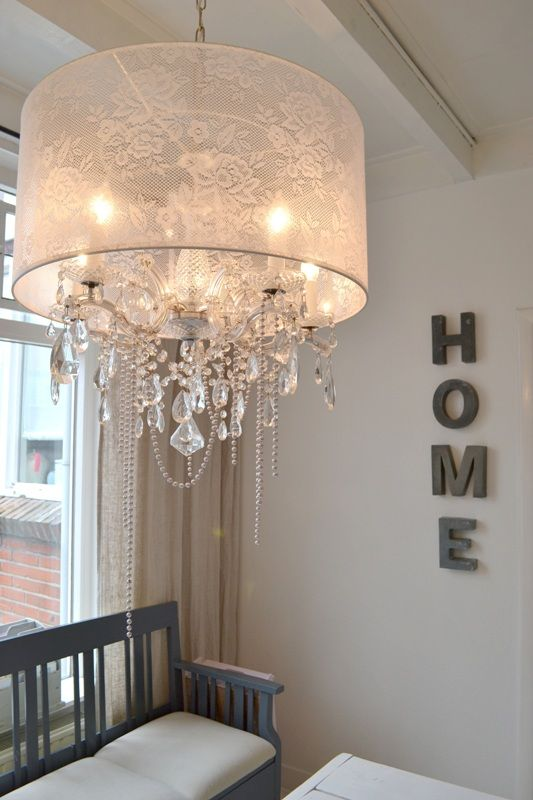 Lace chandelier for Sparky ~ FRIVOLE dining room