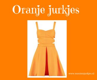 Oranje jurkjes