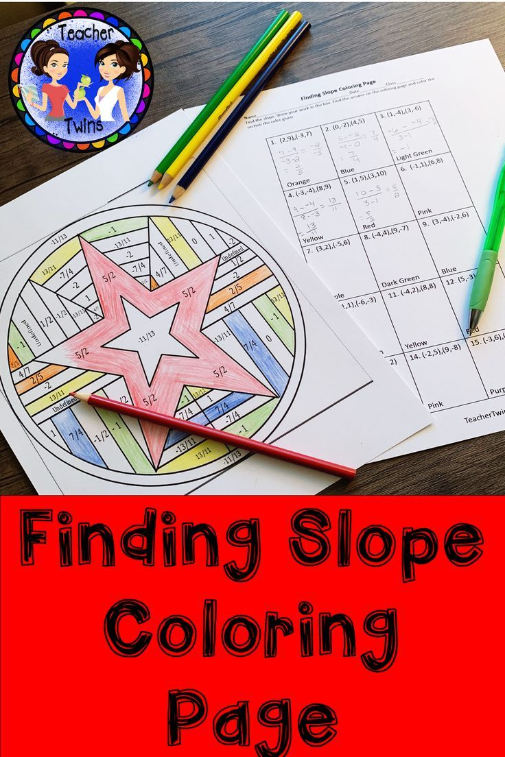 Slope Coloring Page Algebra Activities Coloring Pages