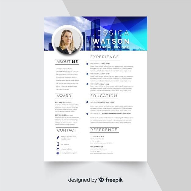 Download Curriculum Vitae Template With Photo For Free Curriculum Vitae Curriculum Ressources