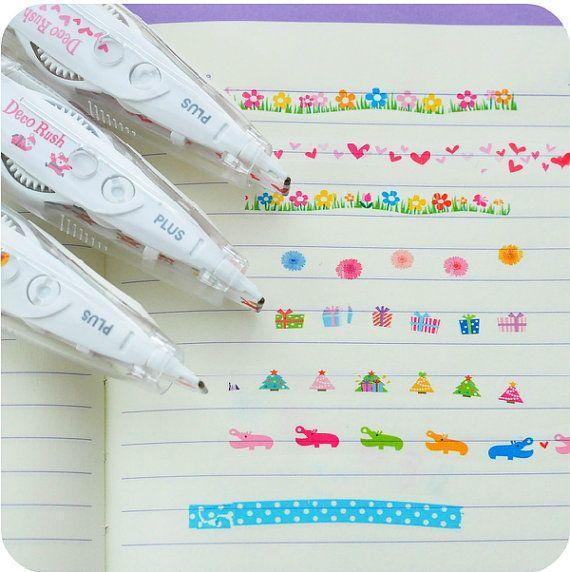 Conjunto de decoración japonesa nueva 3 Pen cinta por JnMstudio