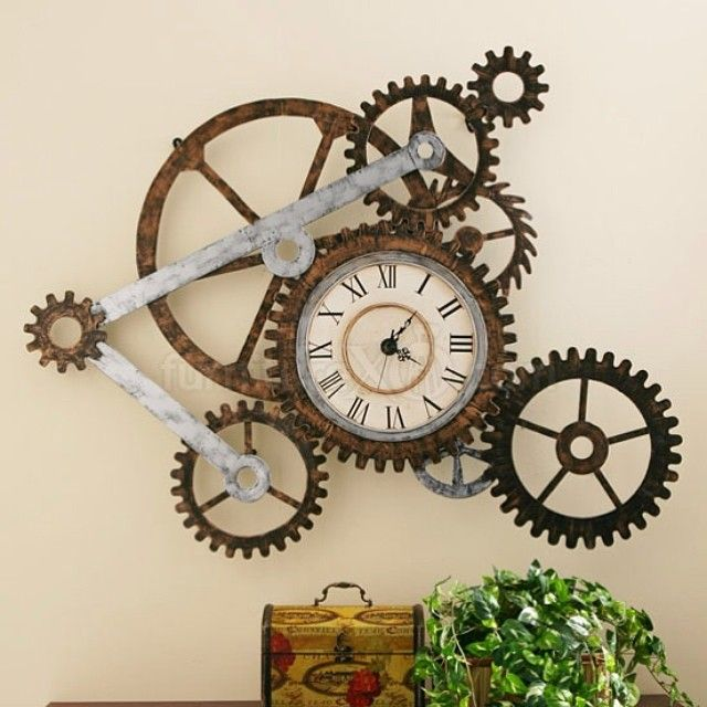 Steampunk Your Home- Gears - http://www.homedit.com/tips-to-steampunk-your-home/