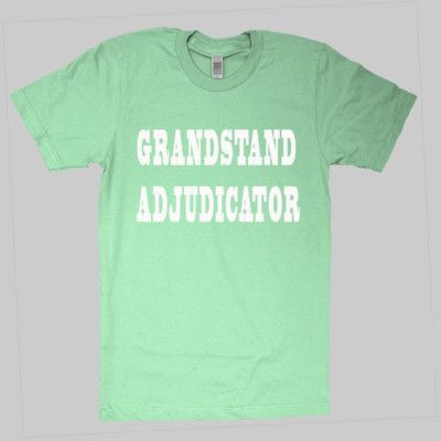 Grandstand Adjudicator - in white - Men's Paper Slim Fashion Tee by As Colour - best seller