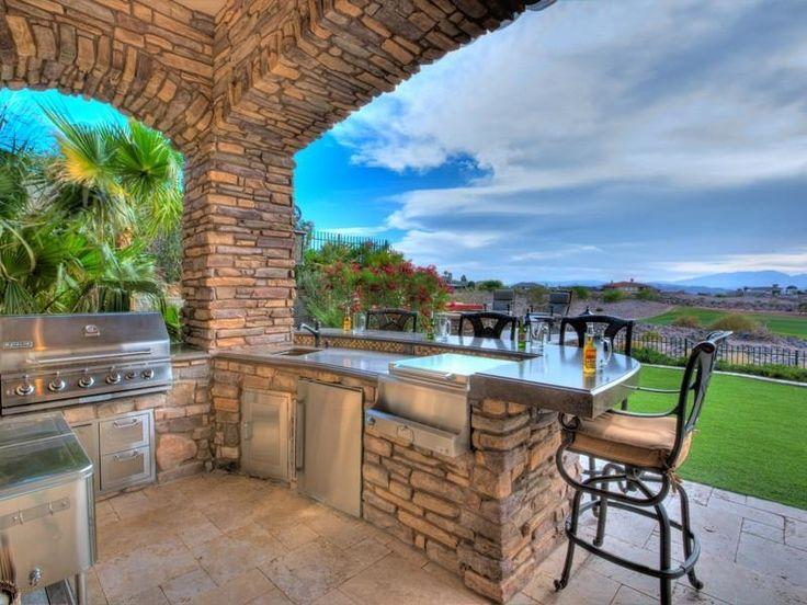 79 best Outdoor Kitchens images on Pinterest | Outdoor rooms ...