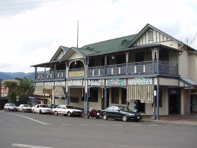 Nimbin Hotel (NSW) was established under the name Freemasons Hotel in 1924. The operation as Nimbin Hotel commenced in 1999. The hotel is the only 'pub' in the village. Nimbin village offers a wealth of experiences: artists, healers, performers, environmentalists, workshops, community organizations, businesses, festivals, communities. Nimbin is a magical place!