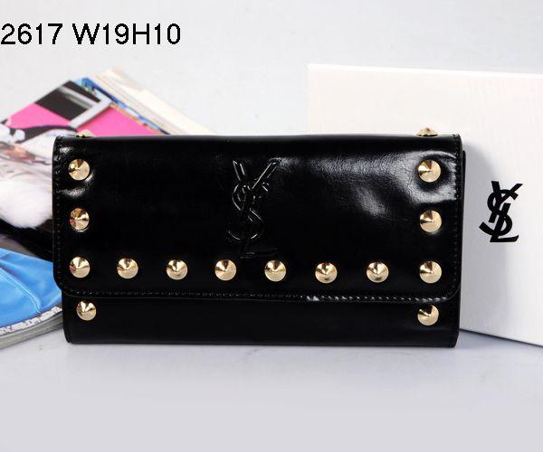 Yves Saint Laurent Flap Wallet Black 2671                $159.00