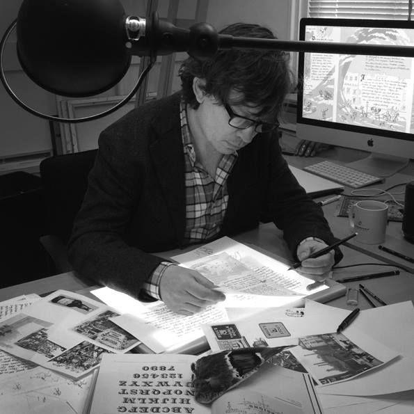 """Illustrator Milo Rottinghuis legt de laatste hand aan zijn beeldverhaal over de """"London Beer Flood"""". Check zijn illustraties in nummer 1 van Schuim magazine!  Schrijf je alvast in via http://ift.tt/1T9kgfp en verzeker jezelf van de eerste editie."""