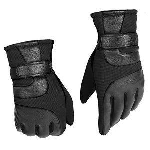 Équitation, ski d'hiver chaud épais gants vélo hiver hommes coupe-vent et cachemire gants moto,Imperial black
