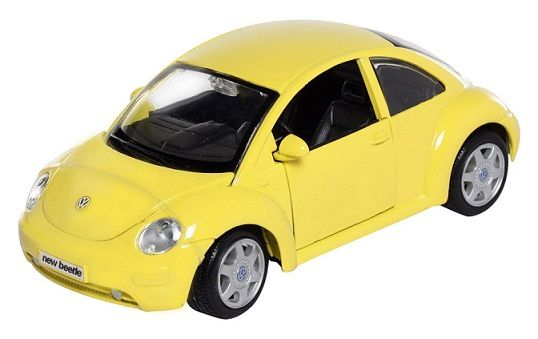 Maisto Special Edition - Volkswagen New Beetle Model Car 1:25 - Yellow (31975)  Manufacturer: Maisto Enarxis Code: 018131 #toys #Maisto #miniature #cars #Volkswagen #Beetle
