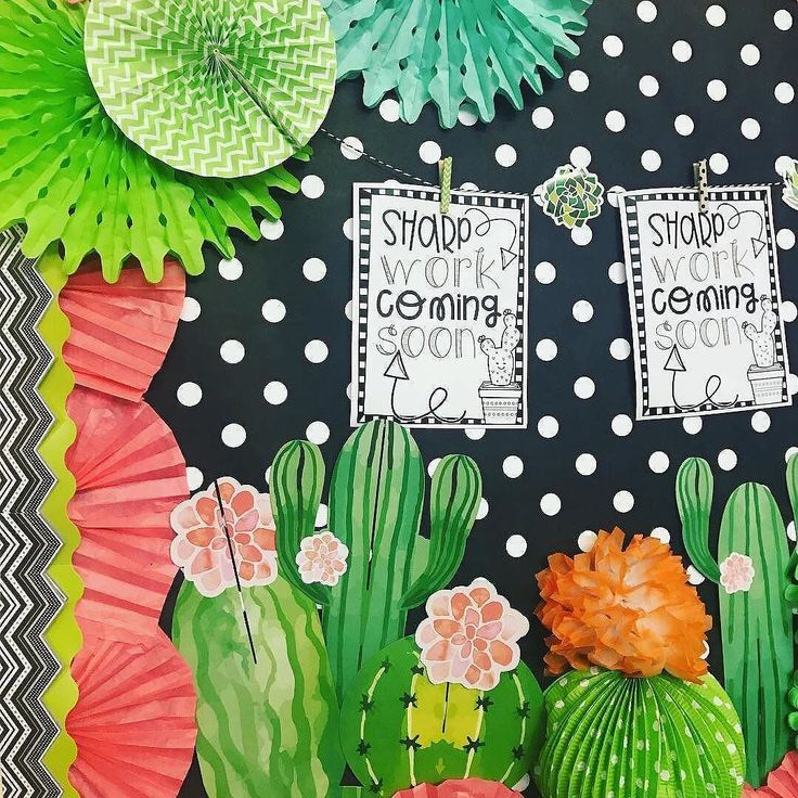 With bulletin boards this cute, who wouldn't be ready for BACK TO SCHOOL? We had a blast with our teachers this week who came to town and participated in our bulletin board challenge. We loved how they incorporated  Cactus Watercolor  Team Cactus was: @fancyfreein4th @malekindergartenteacher @simply_sprout and @bubblyblondeteacher #regram #cactusclassroom #backtoschool #teachersofinstagram #learn365 #orientaltrading
