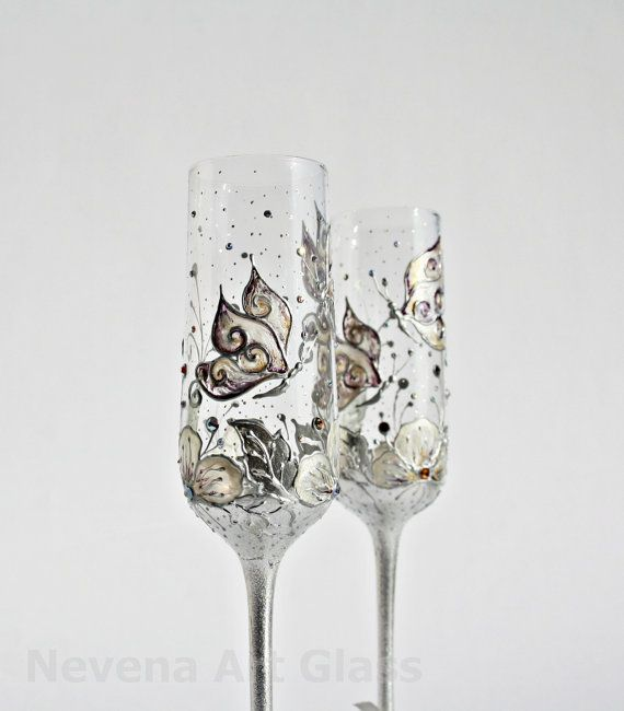 Hey, I found this really awesome Etsy listing at http://www.etsy.com/listing/93826359/wedding-glasses-butterfly-and-flowers