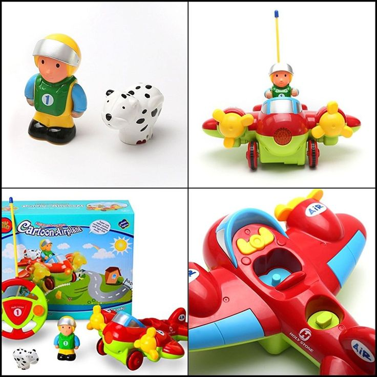 HOT RC Cartoon Airplane Remote Control Plane for Baby Toddlers Kids and Children #HolyStone