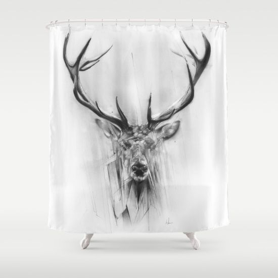 Red+Deer+Shower+Curtain+by+Alexis+Marcou+-+$68.00