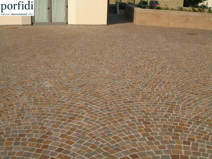 Italian porphyry cubes mixed red color