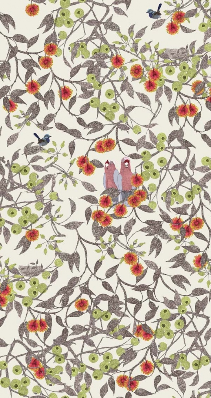 Sparkk - Interior Textiles & Wallcoverings Printed in Australia - Galah Neutral Fabric