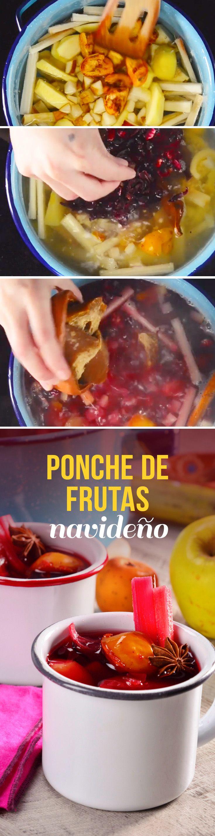 Deliciosa receta de ponche de frutas para Navidad o Año Nuevo.