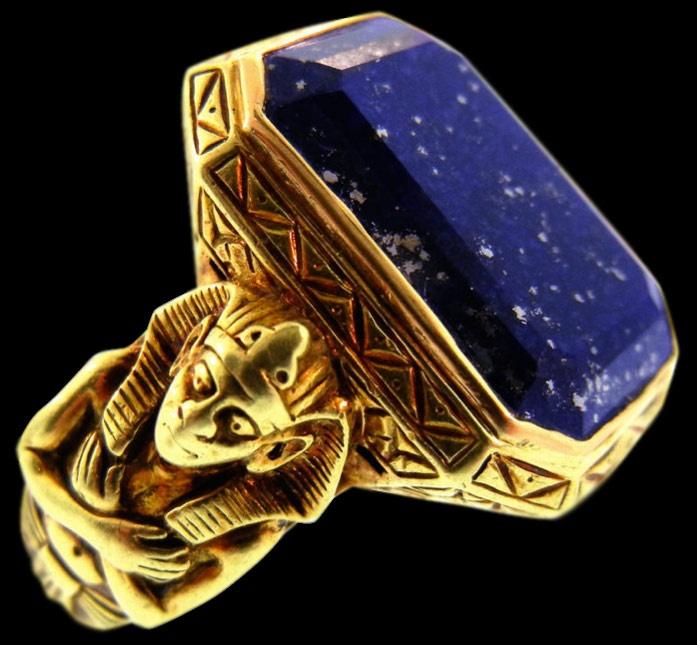 Egyptian Hair Ring Carnelian