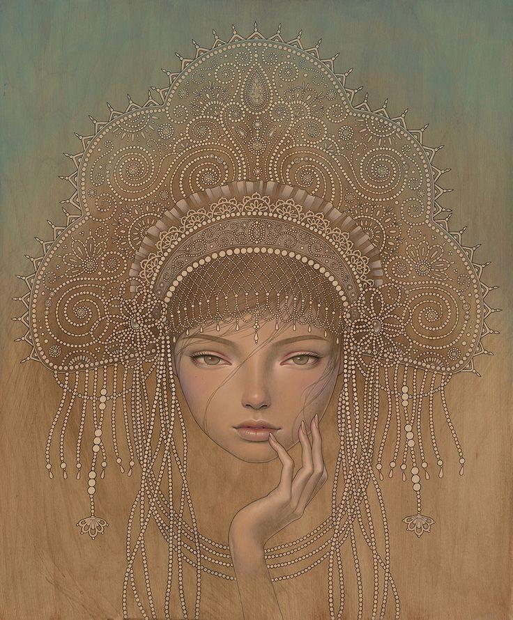 """SUPERSONIC ART: Audrey Kawasaki for """"Gilded Horizon"""" at KP..."""