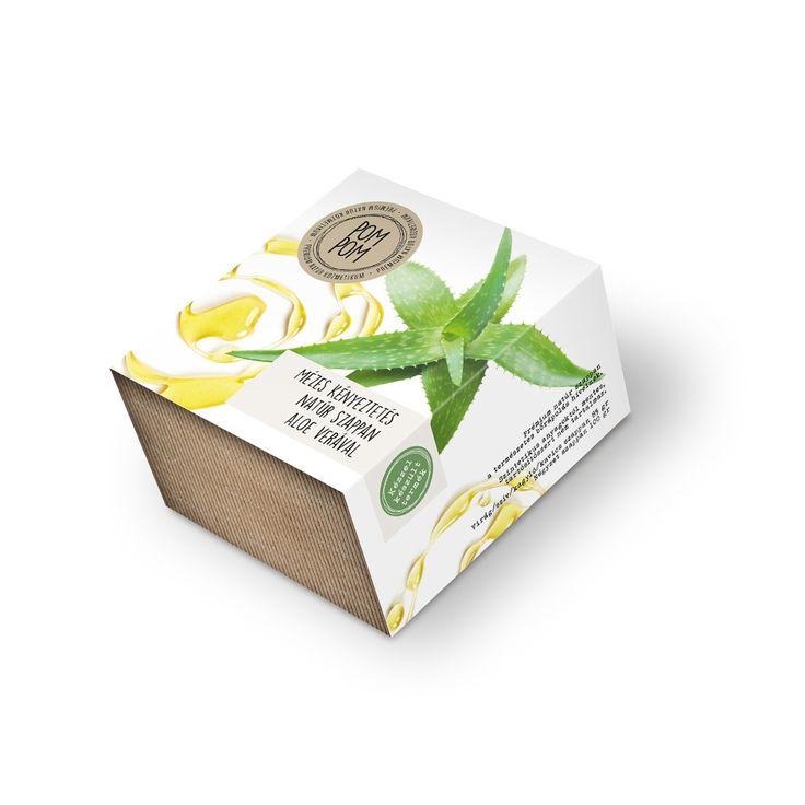 Mézes kényeztetés natúr szappan aloe verával * Aloe vera natural soap with honey