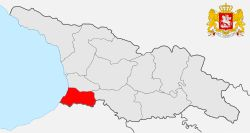 Adjara is located in the southwestern corner of Georgia, bordered by Turkey to the south and the eastern end of the Black Sea. Adjara is a home to the Adjar ethnic subgroup of Georgians.