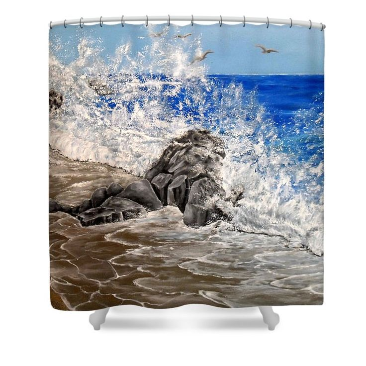 Shower Curtain,  bathroom,accessories,unique,fancy,cool,trendy,artistic,awesome,beautiful,modern,home,decor,design,for,sale,unusual,items,products,ideas,blue,grey,coastal,waves,sea