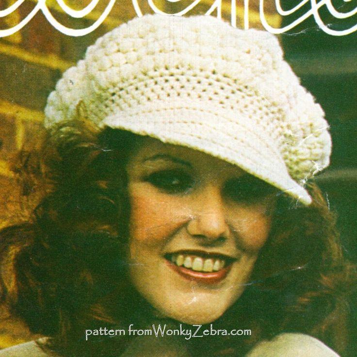 WZ431 crochet baker boy hat