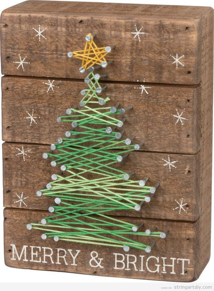String Art DIY Christmas Tree