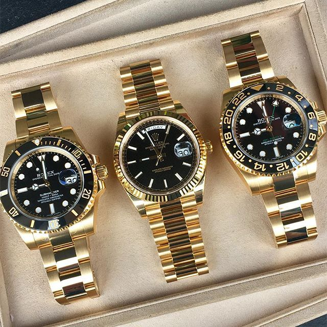Gold & black ... what's your favorite | http://ift.tt/2cBdL3X shares Rolex Watches collection #Get #men #rolex #watches #fashion
