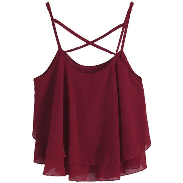Aislen Women's Chiffon Camisole Crop Top Spaghetti Strap Sheer... ($12) ❤ liked on Polyvore featuring tops, sheer camisole, cropped cami, crop tank, cami tank tops and spaghetti strap tank top