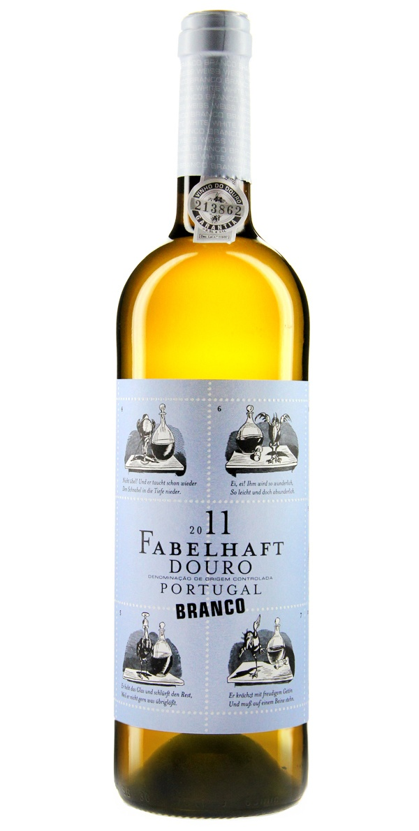 Niepoort Fabelhaft Branco - Der Niemals-Genug-Wein mit einer kleinen Bildergeschichte auf dem Etikett. Einfach hübsch! #Wine #Wein #Bottle #Weinflasche #Design