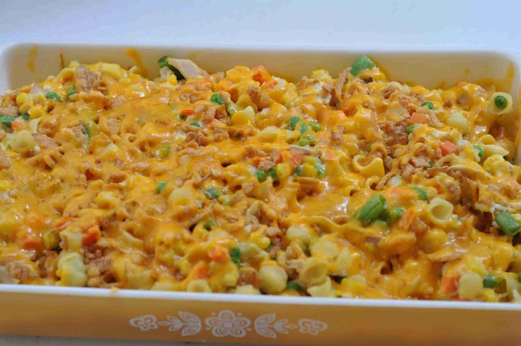 Country Casserole...In my family, if you die, get sick, have a car accident, have a baby, have a potluck, have a family reunion, have a picnic, get bad news, get hungry, or get last minute dinner guests…You get a Country Casserole! This is our standard family casserole. It shows up everywhere! Why? Because we love it! This casserole is quick, easy, filling, great tasting, an inexpensive way to feed a crowd..