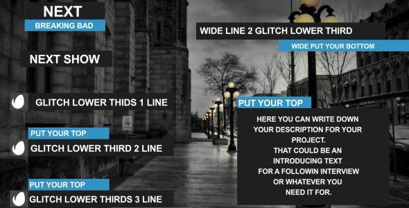 Glitch Lower Third