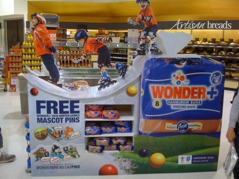 Point of Purchase Design | POP Design | Food POP | Wonder Bread display by Artisan Complete
