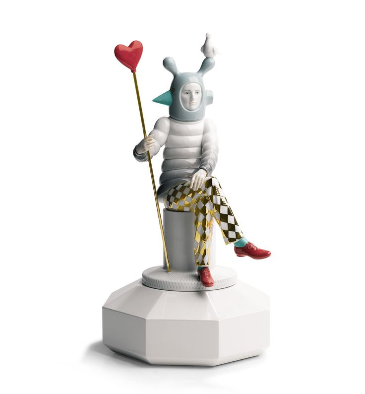 Top Ten: Jaime Hayon | Statuette The Lover II, Lladrò, 2008 |  #designbest @lladroporcelain |