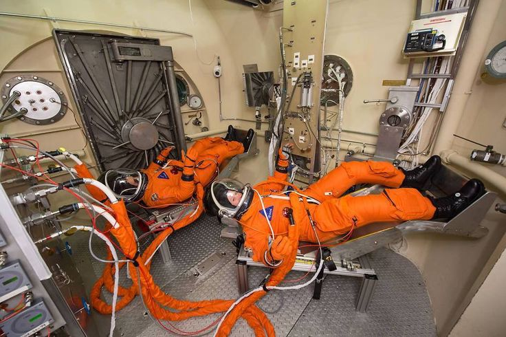 Engineers and technicians at NASA's Johnson Space Center in Houston are testing the spacesuits astronauts will wear in the agency's Orion spacecraft on trips to deep space.  #nasa #space #orion #astronauts #jsc #houston #spacesuits #training #research